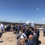 Realizacja nagłośnienia otwarcia budowy północnej obwodnicy Krakowa. Blue Light